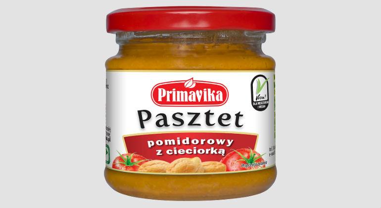 Pasztet pomidorowy z cieciorką