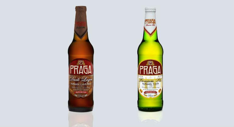 """Czeskie piwa Praga Authentic Czech Beer w sieci sklepów """"Piotr i Paweł"""""""